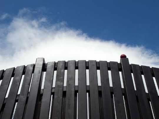 black timber fence overlooking the sky | Werribee Fencing Pros
